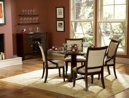 dining room auburn retro dining space with simple fire place dining room auburn retro dining space with simple fire place feature seal brown wood round dining table with center single leg and beige foamy upholstery