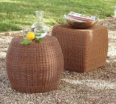 Wicker Accent Table Wicker Accent Tables Or Stools Macy
