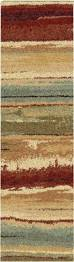 Orian Rugs Wild Weave Orian Rugs Plush Stripes Dusk To Dawn Multi Rug Contemporary