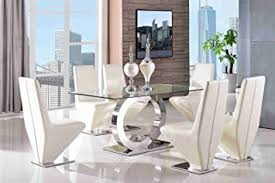 Channel Modern Glass Dining Table  L X  W X  H Cm - Modern glass dining room furniture
