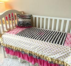 bedding set crib bedding amazing pink and gold toddler