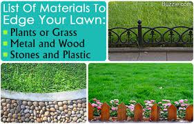 lawn edging ideas that lend a distinct look to the yard