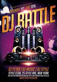 dj battle psd flyer template 8167 styleflyers
