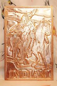 kopper kard postcards vintage american indian embossed postcard copper card