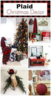 plaid christmas decor ideas for the holidays plaid christmas