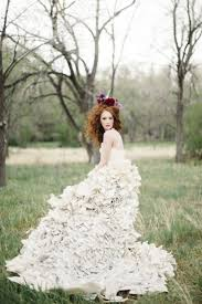 inspired wedding dresses literary inspired wedding with a book page wedding dress