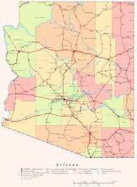 Oklahoma Map With Cities Arizona County Map With Cities Arizona State Map Map Of Usa