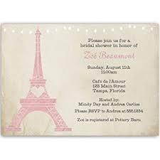 eiffel tower wedding invitations bridal shower invitations eiffel tower pink