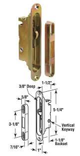 Patio Door Mortise Lock by Wgsonline Patio Door Mortise Lock Rectangular Body Vertical