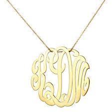 monogram necklaces gold ginette ny medium lace monogram necklace gold ginette ny polyvore