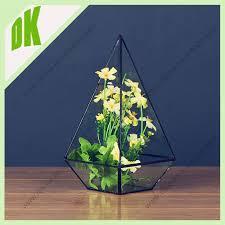Good Vase Home Decoration Floor Geometric Glass Vase Good Quality For
