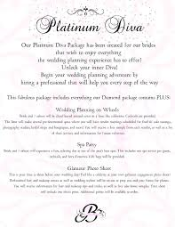 wedding planner packages bri s event planning our wedding packages