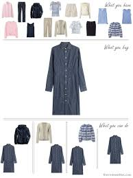 how to build a capsule wardrobe in denim stone pink and soft