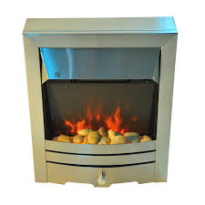 led flame electric fire place stainless steel