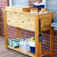 ana white patio cooler u0026 grill cart combo diy projects