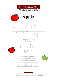 kids abc letter tracing worksheets apple abc letters org
