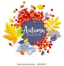 autumn leaves vector sale banner wedding stock vector 691774063