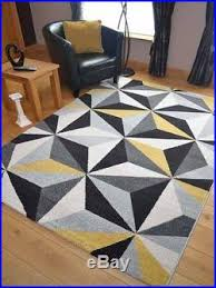 Yellow Rug Cheap Small Extra Large Modern Ochre Yellow Gold Triangle Floor Carpet