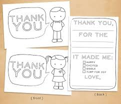 kids thank you cards printable thank you card for kids fill in and color