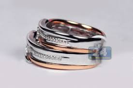 wedding band sets diamond his wedding bands set 18k two tone gold 0 78 ct