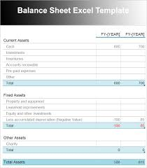 Excel Balance Sheet Template Free Balance Sheet Template Free Excel Word Documents