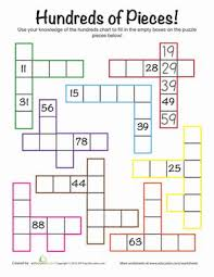 hundreds chart challenge worksheets maths and