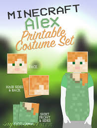 Minecraft Costume Minecraft Alex Printable Costume Sweet Anne Designs