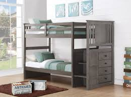 Bunk Beds For Boys Harrison Grey Bunk Bed With Stairs Storage Drawers Bunk