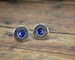 bullet stud earrings bullet earrings etsy