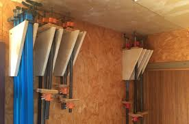 Wood Clamp Storage Rack Plans by Quick And Easy Clamp Storage Youtube