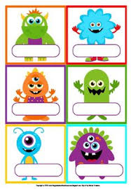 free printable monster tags template