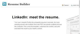 Linkedin Resume Template Linkedin Resume Builder Resume Templates