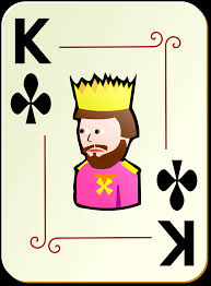 clipart ornamental deck king of clubs