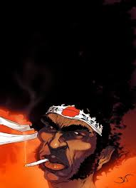 number one headband afro samurai in a futuristic yet feudal japan it is said that