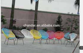 ch a081 steel frame swing wicker garden furniture chair plastic