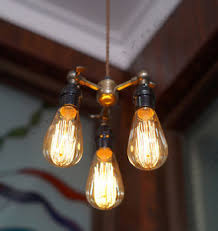 Hanging Light Bulb Fixture 3 Bulb Edison Pendant Light Industrial Vintage Style Hanging
