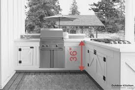 kitchen cabinet height from countertop outdoor kitchen counter what height and depth are the best