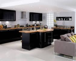 High Gloss Black Kitchen Cabinets Large Gloss Black Kitchen Concept Http Www Hgtvdecor Net Daily