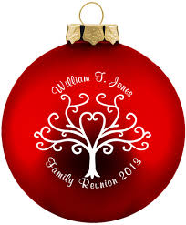 family personalized ornaments