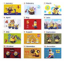 minion desk calendar 2017 characters shop laughlaugh rakuten global market september