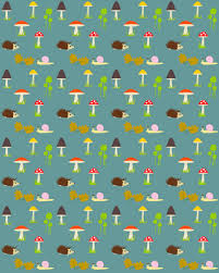 hedgehog wrapping paper free digital and printable forest themed background pattern
