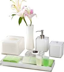 Acrylic Bathroom Accessories by China White Crystal Amenities Holder Set Hotel Balfour Simply