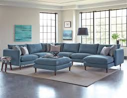 Upholstered Dining Chairs Melbourne by Melbourne Blue Upholstered 6 Piece Casual Modern Sectional