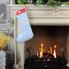 blue reindeer christmas stocking
