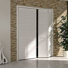 Bi Fold Doors For Closets Bi Fold Closet Door Louver Louver Plantation White