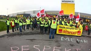 amazon germany workers at a factory in germany boycott amazon for poor working