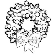 christmas wreaths christmas decorations coloring pages