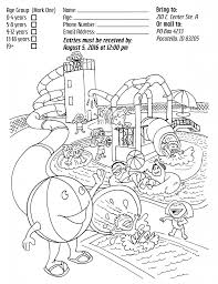 2016 splish and splash coloring contest aid for friends