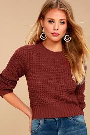 sweater brick sweater cropped sweater