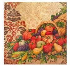fall thanksgiving cornucopia 20 guest paper towels napkins ebay